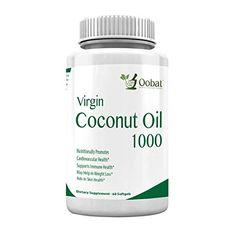 Virgin Coconut Oil All Natural Pure Organic Supplement to Burn Fat and Build Strong Hair and Nails Gluten and Trans Fat Free Take 4 Capsules Daily ** Read more reviews of the product by visiting the link on the image.Note:It is affiliate link to Amazon.