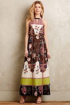 Garden Collage Maxi Dress - anthropologie.com