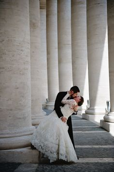 Wedding at the Vatican in Rome, Italy - photos by Rochelle Cheever   via junebugweddings.com