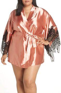 5beb486df2 OH LA LA CHERI Satin Robe - Plus Size Latest Clothing Trends