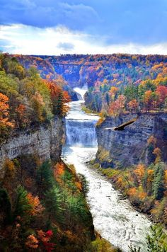 Grand Canyon of the East Letchworth State Park in Upstate New York........ #Relax more with healing sounds: