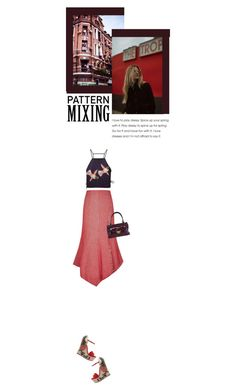 """""""she says"""" by paperdollsq ❤ liked on Polyvore featuring MSGM, A.W.A.K.E., Mimco, Gucci and patternmixing"""