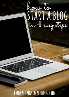 Thinking of starting a blog, but have no idea where to begin? This guide provides step-by-step details for how to start a blog in 4 easy steps!