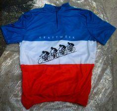 "T-shirt basata sulla copertina del disco ""Tour De France"" dei Kraftwerk"