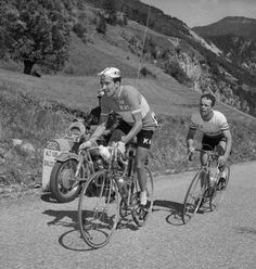 Julio Jimenez and Cees Haast During the 16th Stage of the 1965 Tour de France