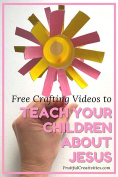 Teach your children about Jesus in a creative way with these step by step crafting videos. #christianparenting #kidscrafts #biblecrafts