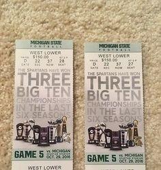 #tickets 2 Michigan State vs Michigan football tickets- Sec 22 October 29th- 20 yd line please retweet