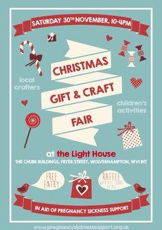 Christmas gift & craft fair poster