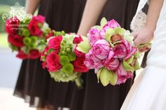 Pink   Brown Tennessee Wedding on