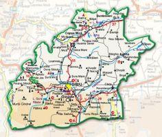 Harta administrativa a judetului Sibiu Tourist Map, Romania, Ale, Ale Beer, Ales, Beer