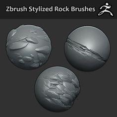 Zbrush Brushes - Stylized Rock, Jonas Ronnegard on ArtStation at https://www.artstation.com/artwork/zbrush-brushes-stylized-rock