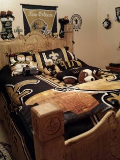 New Orleans Saints Bedroom Suite