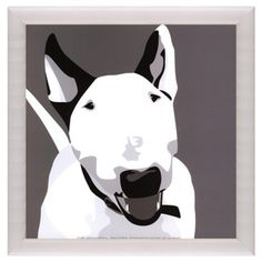 Check out this item at One Kings Lane! Glossy White Framed Dog Print III