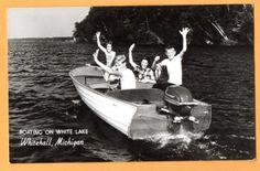 MI Michigan Whitehall Evinrude Outboard Motor Muskegon County Postcard RPPC M | eBay