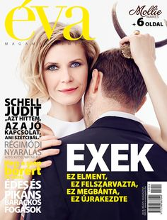 // Éva's cover for its July–August issue with actress Judit Schell. Actors & Actresses, Tv Series, Film, Cover, Movie Posters, Movie, Films, Film Stock, Film Poster