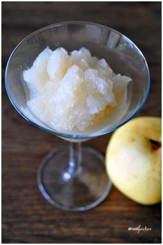 Nashi Pear and Honey Sorbet. MADE. added fresh ginger. just a tidbit.