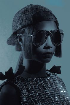 Cara Delevingne by Karl Lagerfeld for Chanel Eyewear Spring/Summer 2016.