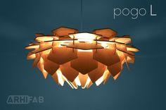 wooden lamp Collection Pogo par Arhifab - Journal du Design