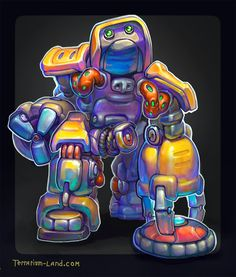 Robot T.I.X. with landmine