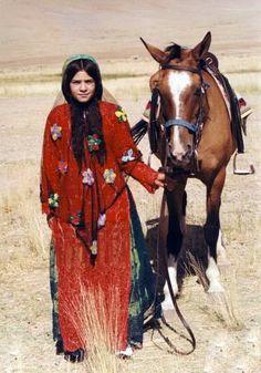 Southern Iran | Qashqai nomad.  Fars region | Photographer unknown