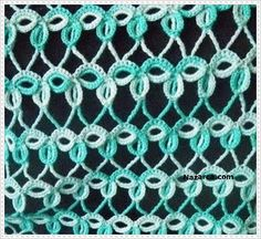 This is CROCHET, but looks like it would be pretty as a tatting pattern. Crochet Motifs, Crochet Shawl, Crochet Yarn, Crochet Hooks, Free Crochet, Tatting Patterns, Crochet Stitches Patterns, Knitting Stitches, Stitch Patterns