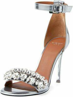 ff4f92d900dde1 Shop for Metallic Crystal Ankle-Strap Sandal