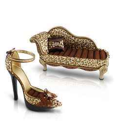 Another great find on #zulily! Cheetah Shoe Jewelry Holder & Lounge Chair Ring Holder #zulilyfinds