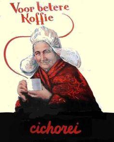 cichorei koffie, namaakkoffie vintage