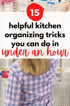 Simple Ideas to get your kitchen organized. Clean clutter on your countertop or declutter your pantry with these kitchen storage hacks you can do on a budget. Pot Storage, Kitchen Storage Hacks, Kitchen Drawer Organization, Spice Storage, Organization Hacks, Organizing Tips, Kitchen Hacks, Cleaning Tips, Storage Ideas