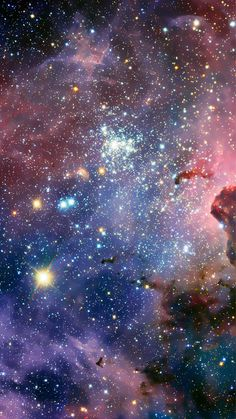 Fantasy Shiny Glitter Nebula Starry Outer Space #iPhone #6 #plus #wallpaper