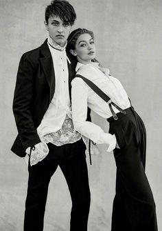 Zayn Malik e Gigi Hadid posam em ensaio Genderless para a Vogue Fashion Editorial Couple, Fashion Couple, Look Fashion, Vogue Fashion, 70s Fashion, High Fashion, Womens Fashion, Vogue 2017, Vogue Us