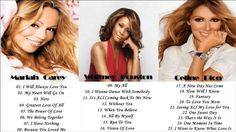 Mariah Carey - Celine Dion - Whitney Houston - Greatest Hits Collection ...