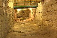 Strada romana IV sec.d.C. (chiesa di S.Eulalia ) Cagliari