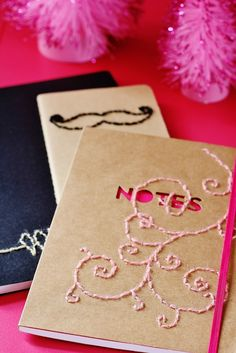 Handmade Gift Idea: Hand Stitched Notebook