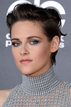 Kristen Stewart | pompadour with short (but not buzzed) sides