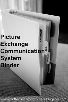 Picture Exchange Communication System (PECS) Binder - Mothers Raising Brothers