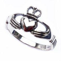 Sterling Silver Irish Claddagh Ring