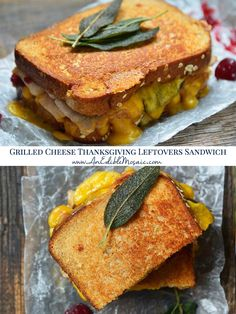 You won't even realize you're eating leftovers with this Grilled Cheese Thanksgiving Leftovers Sandwich. It has turkey, sweet apple, tart cranberry sauce, tons of Tillamook cheese, and fried sage. Making Grilled Cheese, Best Grilled Cheese, Tillamook Cheese, Thanksgiving Leftovers, Family Thanksgiving, Deli Counter, Sliced Turkey, Turkey Sandwiches, Slice Of Bread