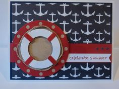 card Nautical Summer Card MFT lifesaver porthole - go overboard #MFTStamp Die-namics Let's Get Nautical