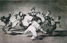 Francisco de Goya: 'Grotesque Dance', c.1819.