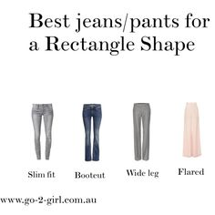 """""""Best jeans/pants for a Rectangle Shape"""" by go-2-girl on Polyvore"""