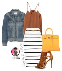 A fashion look from July 2015 featuring H&M tops, rag & bone jackets and River Island skirts. Browse and shop related looks. Chic Outfits, Fall Outfits, Summer Outfits, Fashion Outfits, Womens Fashion, Fashion Weeks, Cute Fashion, Modest Fashion, Look Fashion