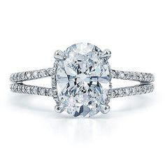 1.50 Carat GIA Certified Oval Cut Diamond Engagement Ring Halo Split Shank 14k