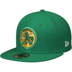 New Era Oakland Athletics Green Cooperstown Collection Wool 59FIFTY Fitted Hat #athletics #oakland #mlb