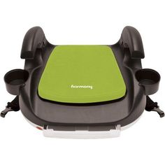 Harmony Transit Deluxe Booster Car Seat with Latch, Lime, Green