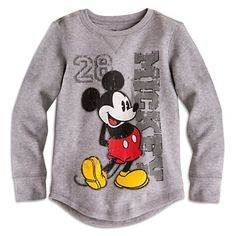 Mickey Mouse Long Sleeve Thermal Tee for Boys | Tees, Tops & Shirts | Disney Store