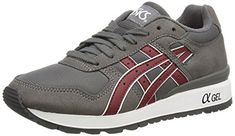 Asics Gt-ii, Unisex-Erwachsene Sneakers, Grau (grey/burgundy 1125), 38 EU - http://on-line-kaufen.de/asics/38-eu-asics-gt-ii-unisex-erwachsene-sneakers-2