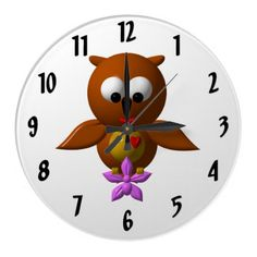 Cute Owl with Orchid Clock  Prices start at around $24.00