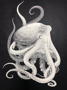 Japanese Artist Hand-Cuts Intricate Octopus From Single Sheet of Paper Kirie Paper Cutting Art Octopus by Masayo Fukuda Japanese Artist Hand-Cuts Intricate Octopus From Single Sheet of Paper Octopus Design, Octopus Art, Octopus Drawing, 3d Cuts, 3d Laser Printer, Gravure Illustration, Octopus Illustration, Art Occidental, Octopus Tattoos