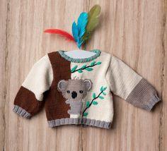 Baby Boy Knitting Patterns, Jumper Knitting Pattern, Knitting For Kids, Baby Patterns, Knit Patterns, Crochet Baby, Knit Crochet, Layette Pattern, Pull Bebe